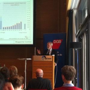 Peter Hennicke auf der DGB Tagung, Foto: Andreas Kühl