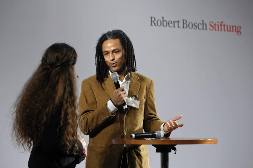Patrick Mijnals bei der Begrüßungsfeier Januar 2014 (Quelle: Robert Bosch Stiftung)