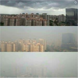 Der Vergleich: Die Luftqualität in Neu-Delhi vor, während und nach Diwali zeigt, wie wichtig erneuerbare Energien in Indien sind.