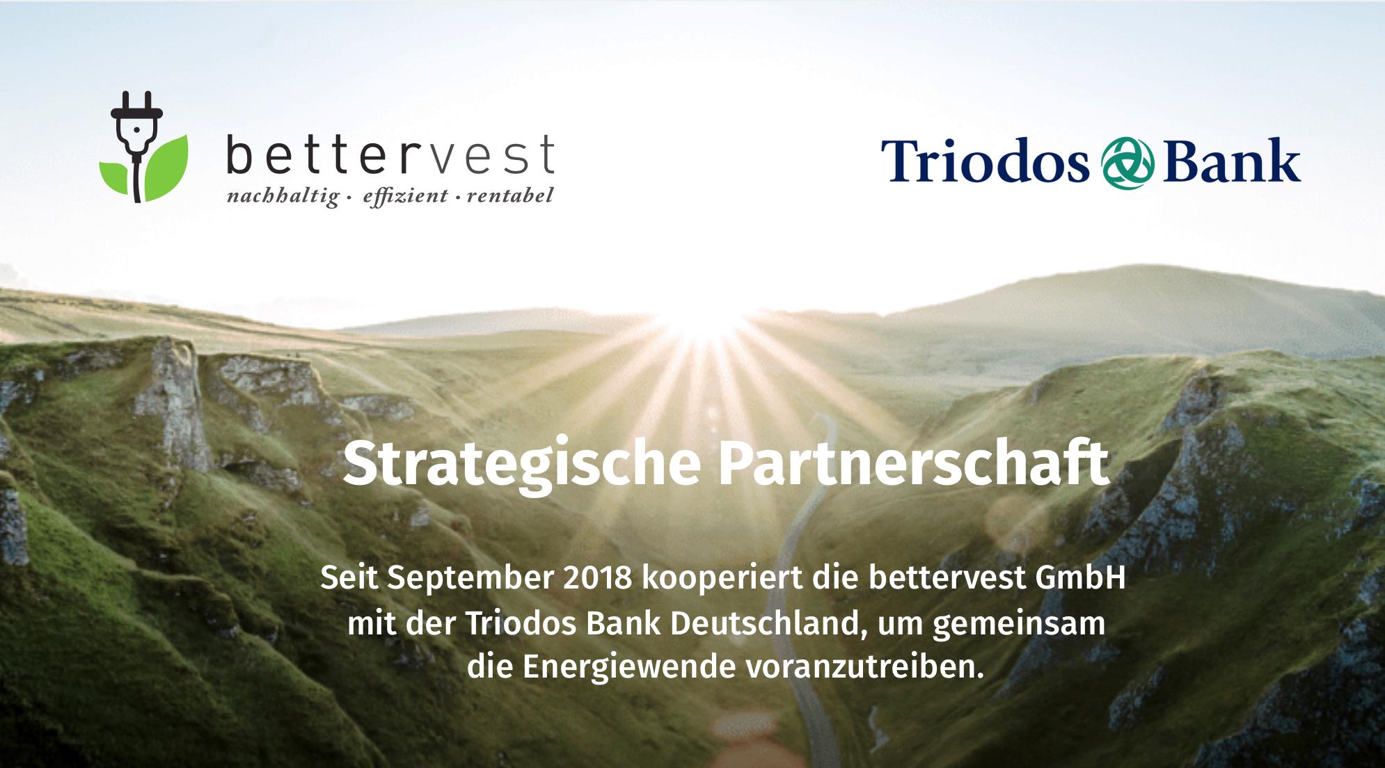 Triodos Bank und bettervest starten eine Kooperation