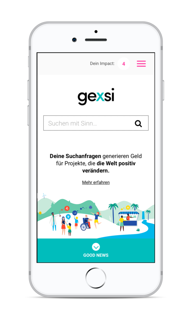 Gexsi Suchmaschine Screenshot