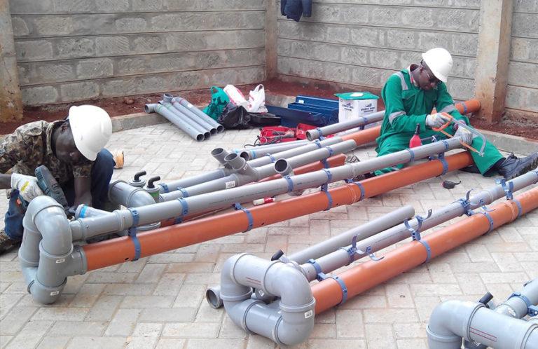 Rohre Abwasser Wasser biologische Abwasserreinigung